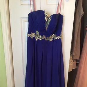 Blush Prom Formal Blue Long Dress size 10